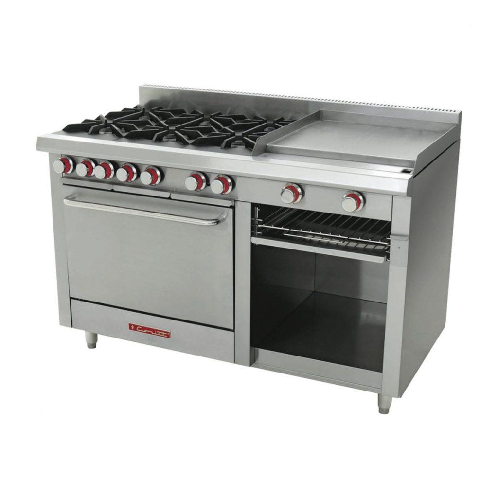 Estufa industrial marca coriat mod ec 6 h grill master for Estufa industrial con horno