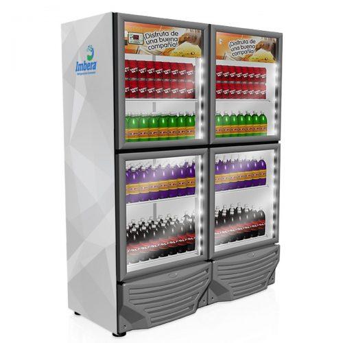 Refrigerador industrial de 4 puertas 35.1 pies