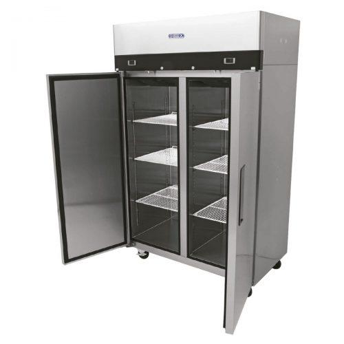 congelador refrigerador acero inoxidable
