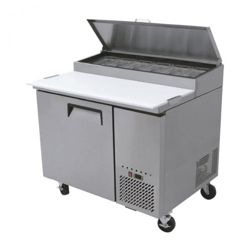 mesa fria para preaparacion de pizza