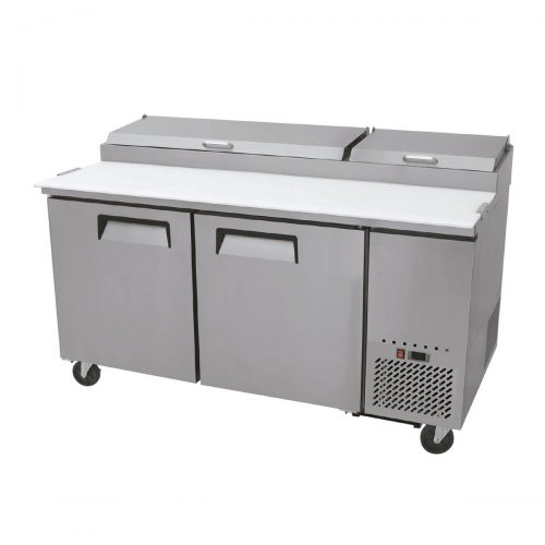 mesa refrigerada para preparacion de pizza