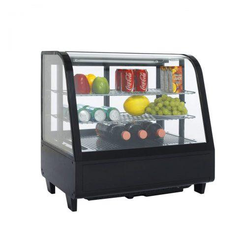 vitrina refrigerada de cristal curvo