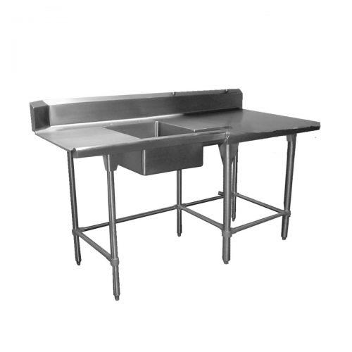 mesa de recibo para loza sucia acero inoxidable